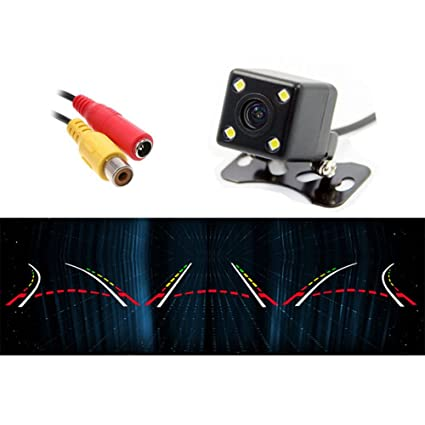 1x 4led Ir Night Vision Car Reversing Rear View Dynamic Trajectory Camera Safety Rear View Monitors/cams & Kits Parts & Accessories