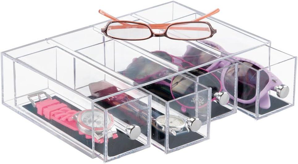 InterDesign Alhajero de 2 cajones Clarity Transparente