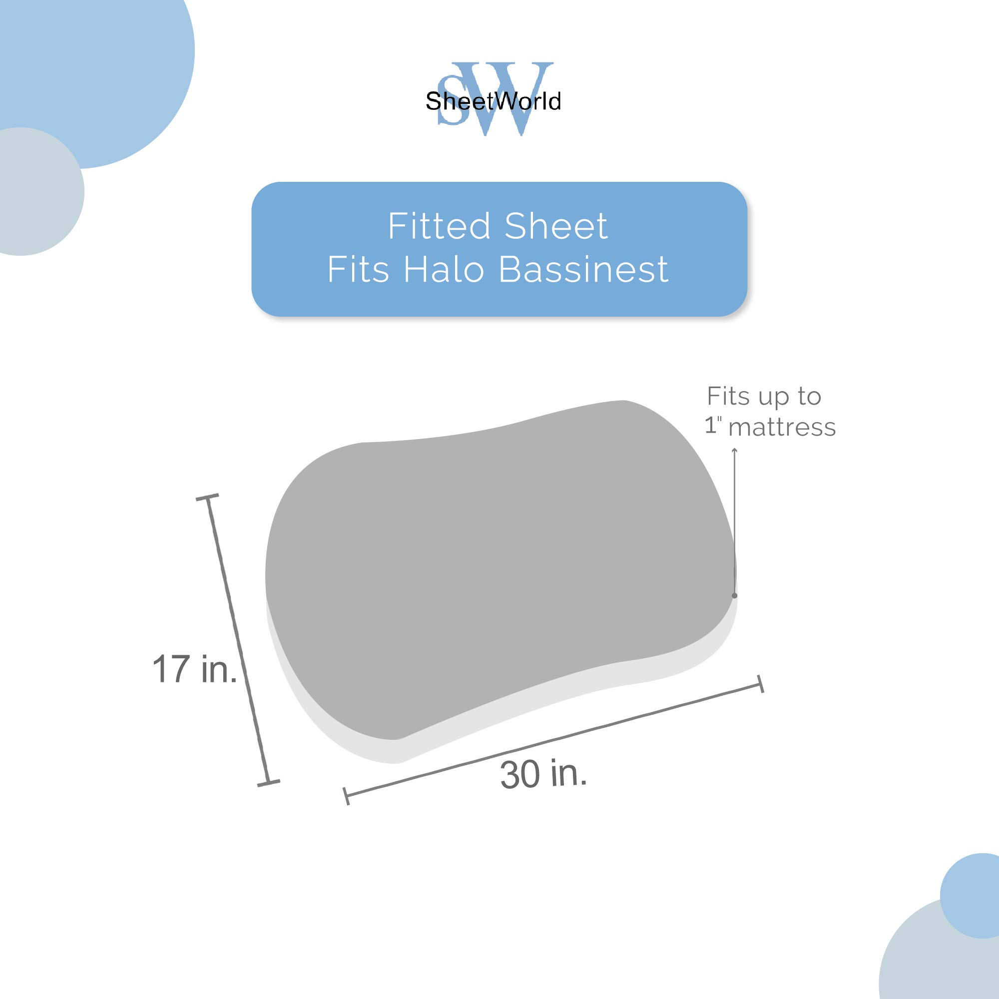 SheetWorld Fitted 100% Cotton Jersey Bassinet Sheet Fits Halo Bassinet Swivel Sleeper 17 x 30, Minnie Mouse Bows, Made in USA by SHEETWORLD.COM