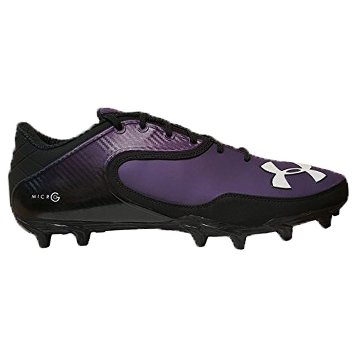 Under ArmourチームNitro Icon Low MCメンズMolded Football Cleats B00Z85RRMQBlack/Black/Purple 13 US