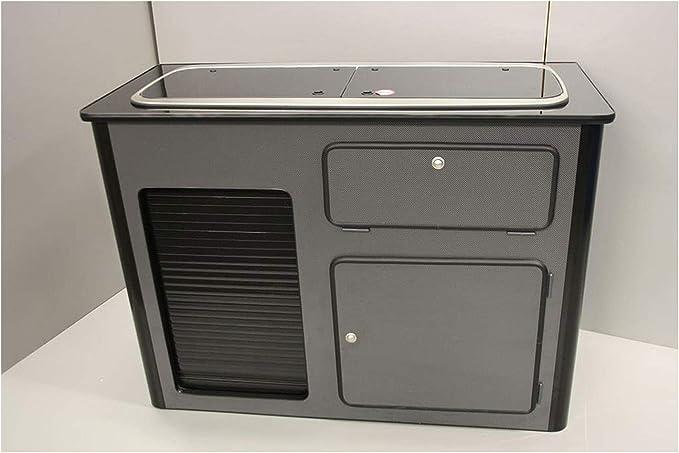 Desconocido Smev 9222 - Mueble para Fregadero y encimera (Lavabo de Mano Derecha, puntinilla), Color Negro Brillante: Amazon.es: Coche y moto