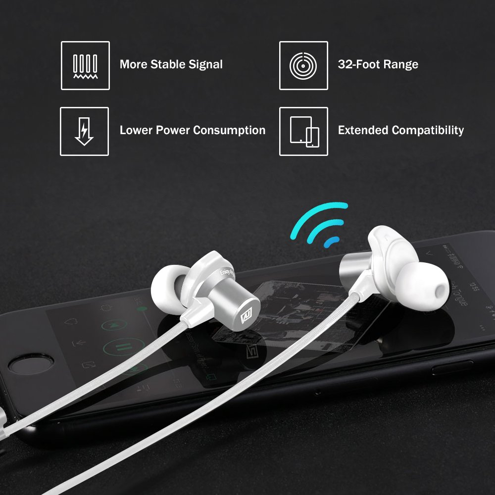 Amazon.com: Bluetooth Headphones, Remax RB-S7 Best Wireless 4.1 Sports Earphones with Mic, Magnetic Earbuds, IPX7 Waterproof, HD Sound with Bass, ...