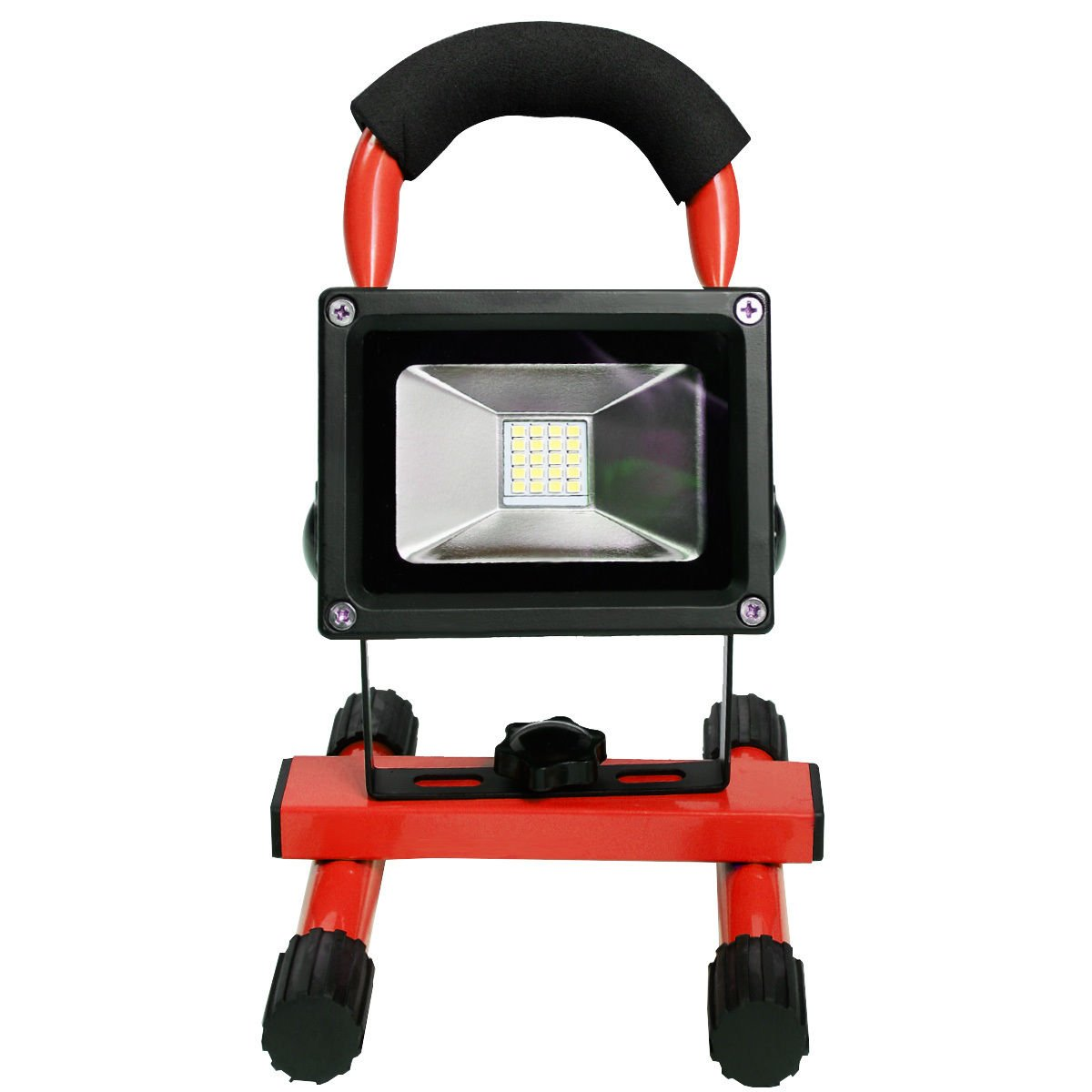 Red Portable 10W Cordless Work Light Rechargeable LED Flood Spot Camping Lamp by Marketworldcup (Image #2)