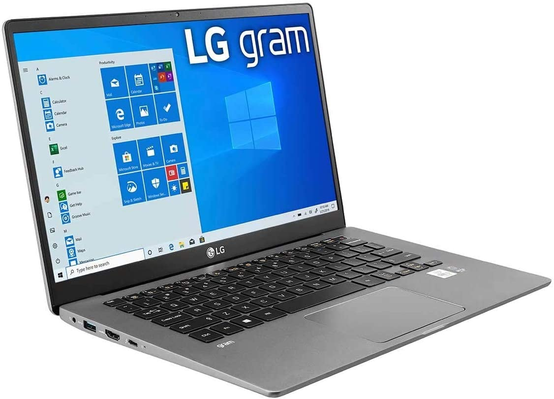 "LG Gram Laptop: 10th Gen Core i7-1065G7, 256GB SSD, 8GB RAM, 14"" Full HD IPS Display, Thunderbolt 3 - 14Z90N (2020)"