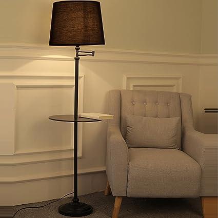 Delicieux GFL Iron Floor Lamp Creative Bedroom Living Room Reading Light Vertical  Rotating Table Lamp E27 Light
