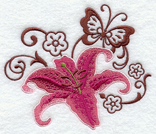embroidered-kitchen-towel-butterfly-lily-bloom