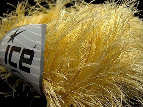 Long Eyelash Yarn (Light Yellow Extra Long Eyelash Yarn Ice Luxurious Fun Fur 50gr 38yds 14156)
