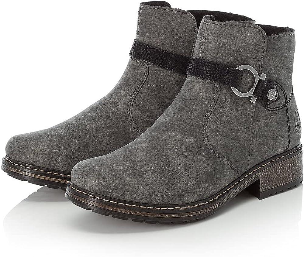 Rieker Damen Z6885 Stiefeletten Boots Winter Stiefel Reißverschluss