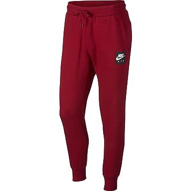fc95e7dae100 Nike Sportswear Air Fleece Men s Sweat Pants Red Black White 928637-687 (