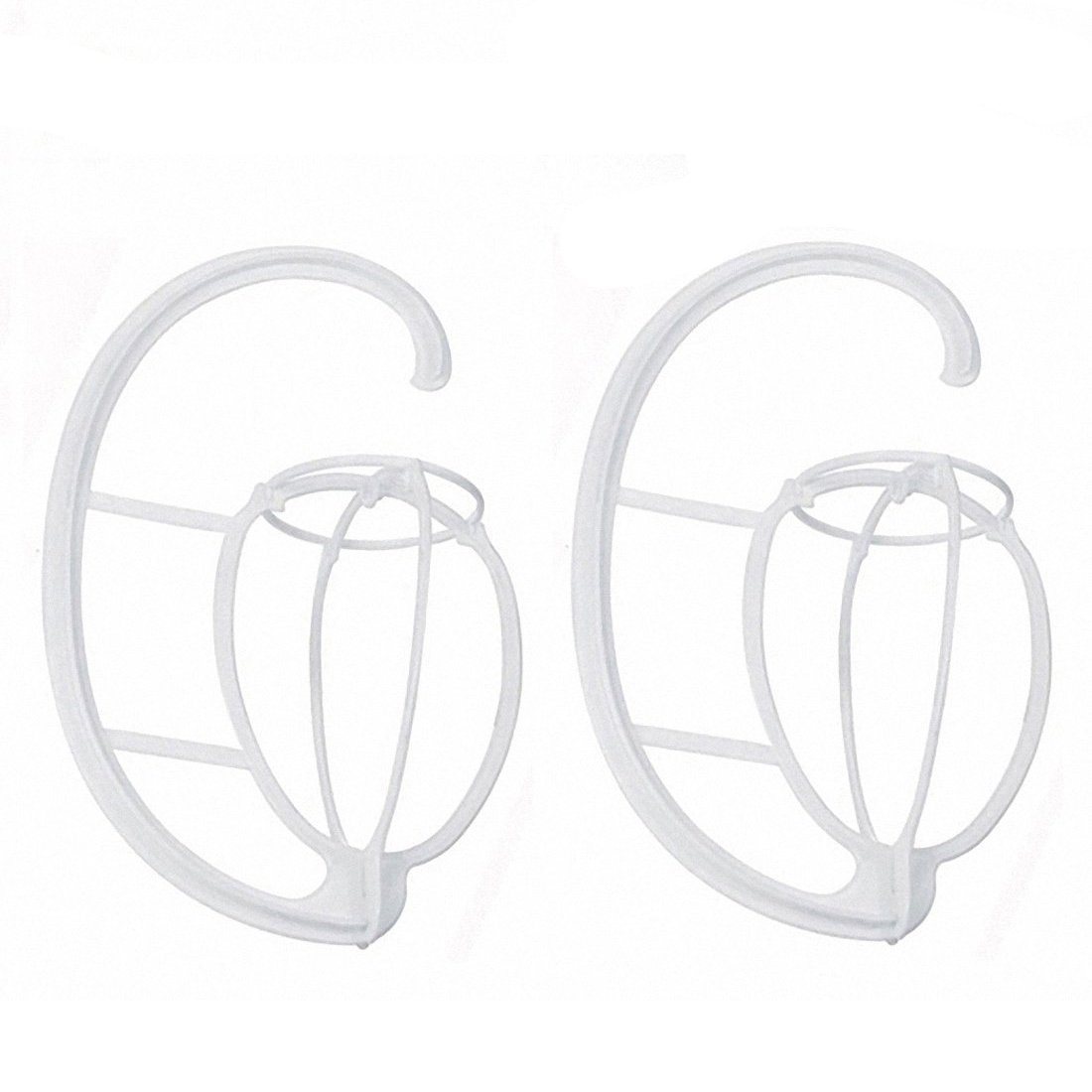 2 Pack Folding Wig Hanger Portable Plastic Store Wig Hanging Stand Rack Wig Dryer Holder Display Tool for Wigs and Hats White (White)