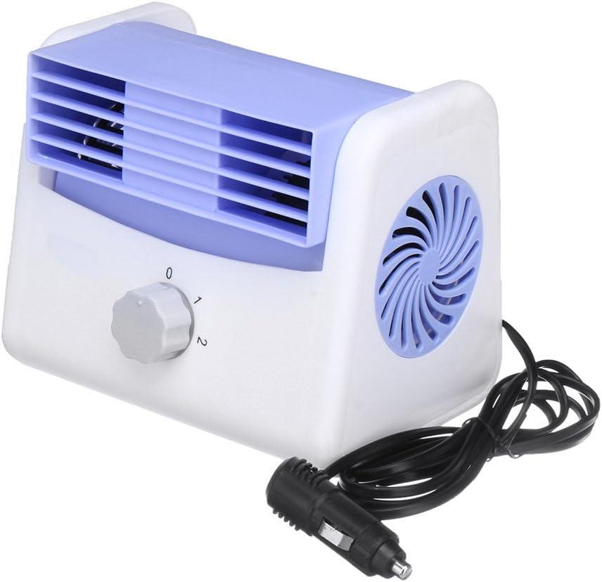 AAPP Shop Justierbarer ruhiger Mini beweglicher Auto-K/ühlventilator-Selbstklimaanlage-K/ühlgeschwindigkeit Sommer-K/ühlventilator-Auto-Klimaanlage 12V