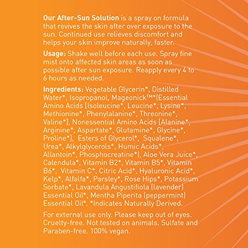 Sunburn Relief Spray Premium After-Sun Solution Soothes Skin Over-Exposed to The Sun. Easy Glycerin-Based Spray-On with Squalene, Urea and Allantoin Moisturizing Factors for Natural, Healthy Skin. by Sutton Family Skin Care (Image #5)