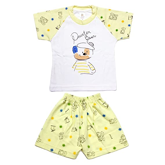 0252c978fafd Kid s Care Unisex Night wear - Baba Suit - Shorts Tshirt Casual wear ...
