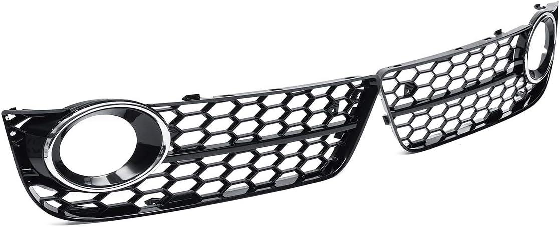 2X A5 Voiture Pare-Chocs Avant Phares Antibrouillard Lampe Grille Grill Cover Mesh Honeycomb Hex pour Audi A5 Coup/é//Cabriolet Sportback 08-11 10-11,A JKBDNB Grille