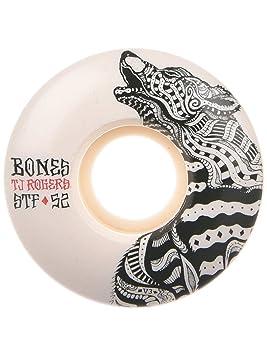 Bones Wheels Huesos ruedas Rogers lobo 52 mm Street Tech fórmula monopatín ruedas [V3]: Amazon.es: Deportes y aire libre