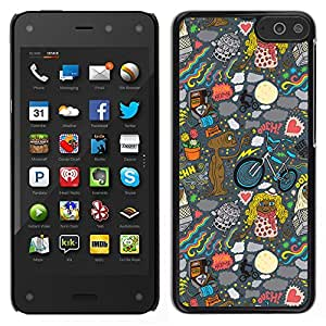 Impact Case Cover with Art Pattern Designs FOR Amazon Fire Phone Wallpaper Alien Art Drawing Ufo Cartoon Betty shop