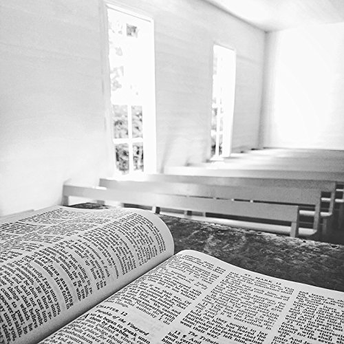 Home Comforts Peel-n-Stick Poster of Church Altar Chapel Reading Bible Bench Book Poster 24x16 Adhesive Sticker Poster Print ()