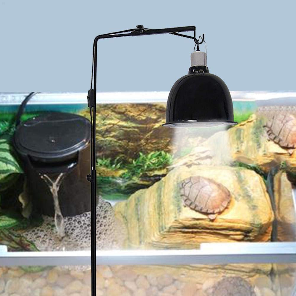 Heating Lamp Holder Adjustable Telescopic Metal Floor Lamp Support for Reptile Lizard Tortoise Turtle Heating Light Glass Terrarium Big Sale Feileng Reptile Lamp Stand