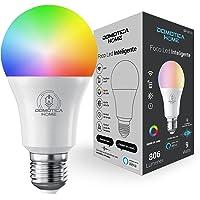 Domotica Home - Foco Led Inteligente WIFI , Multicolor + Luz Blanca Fría y Cálida (RGB + Rango de Luz Blanca 2700K a…