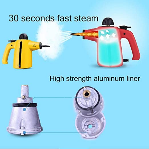 Amazon.com - LXIANGP Handheld Pressurized Steam Cleaner Super Light 9-Piece Set Big Capacity 1000W Multi-Purpose Multi-Surface All Natural Chemical-Free for ...
