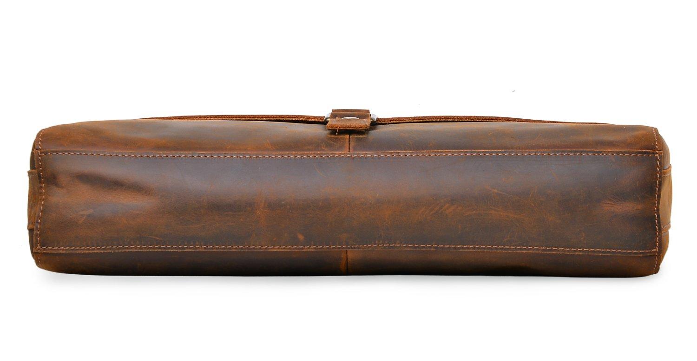 ALTOSY Vintage Genuine Leather Business Laptop Briefcase Office Shoulder Bag 8127 (Brown) by Altosy (Image #5)