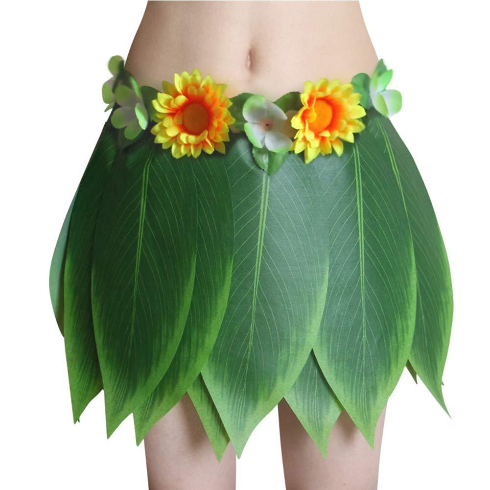 Falda Hawaiana para Fiesta de simulación de Hojas – Disfraz ...