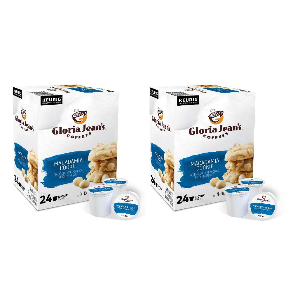Gloria Jean's Macadamia Cookie Coffee Single Serve K-Cup Pods for Keurig Brewers (48 Count)