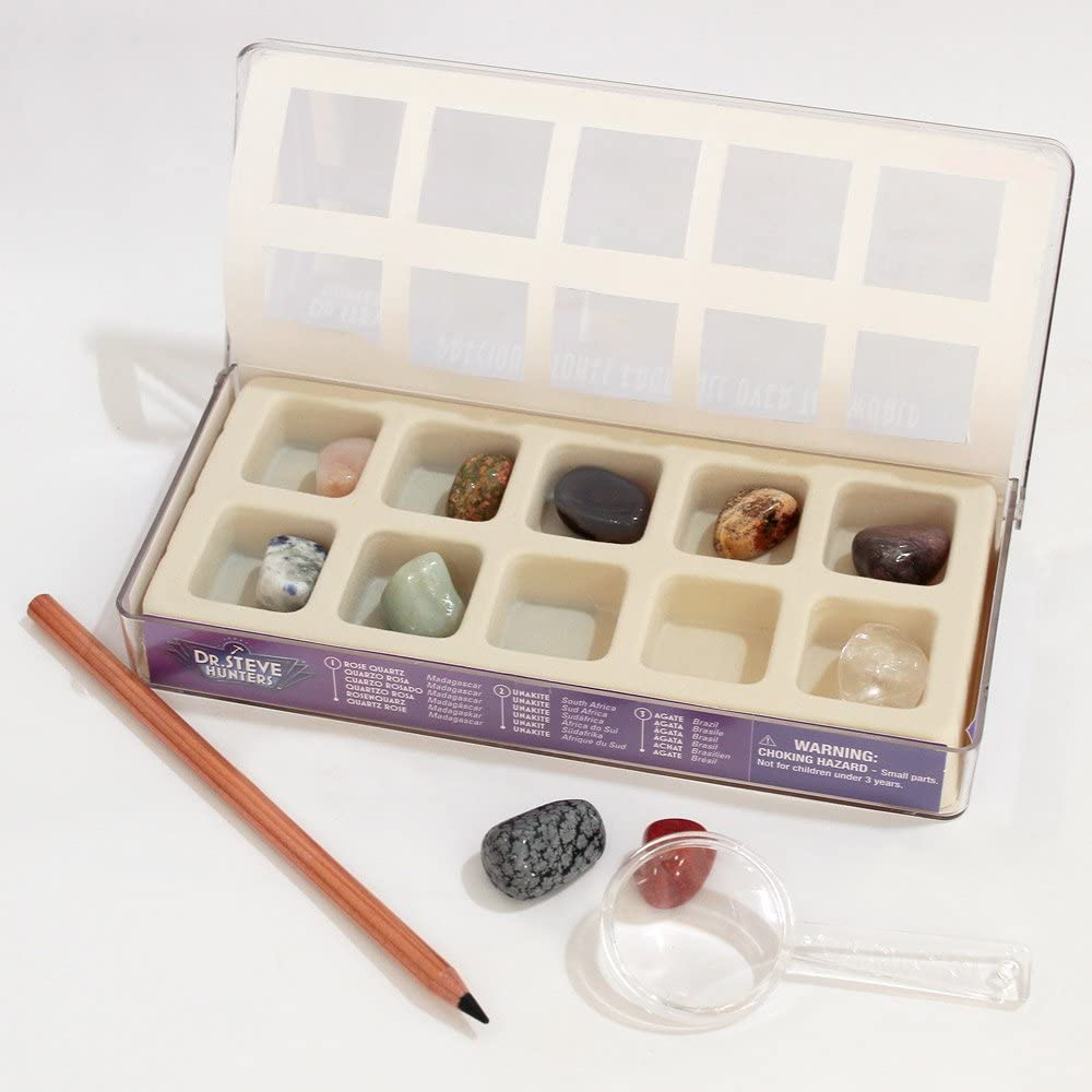 10 Stones Steve Hunters Precious Stones from All Over The World Science Kit Geoworld Dr
