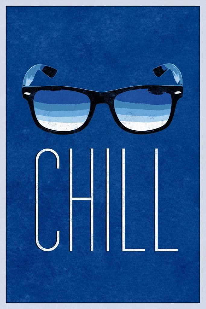 Chill Sunglasses Blue Cool Wall Decor Art Print Poster 24x36