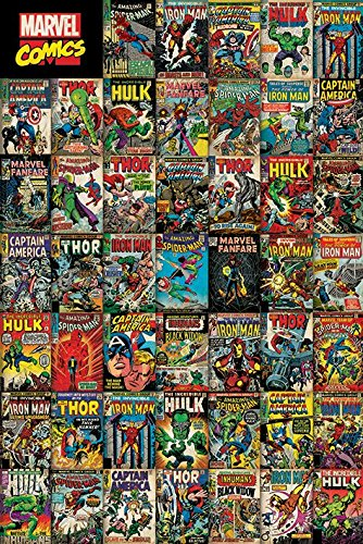 "Marvel's Avengers - Comic Poster / Print (70th Anniversary - Comic Cover Montage) (Size: 24"" x 36"") (By POSTER STOP ONLINE)"