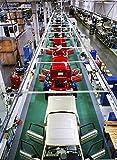 Auto assembly line at Volvo Torslanda Plant in Gothenburg Sweden 30x40 photo reprint
