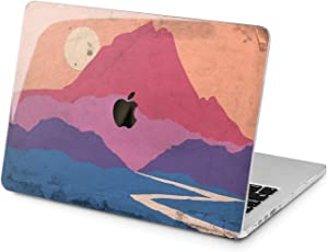 Lex Altern Hard Case Compatible with MacBook Air 13 Mac Pro 15 inch Retina 12 11 2020 2019 2018 2017 Shell Girls Landscape Colorful Designed Plastic Sun Retro Touch Bar Mountain Print Graphic Laptop