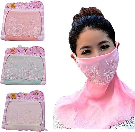 Transpirable cara boca máscara, paciffico cuidado de la piel máscara de gasa Protector solar plegable cuello Oversized anti UV máscaras para al aire libre conducción pesca, 3 Colours: Amazon.es: Deportes y aire