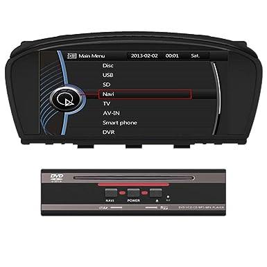 Radio estéreo para coche BMW, con DVD y GPS, 21,6 cm