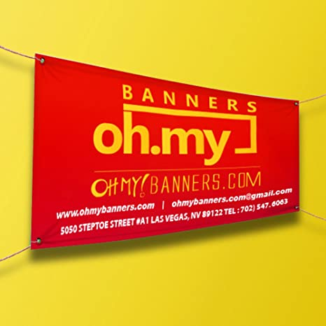 Amazon.com: Empresa de vinilo Business Banner UV Full Color ...