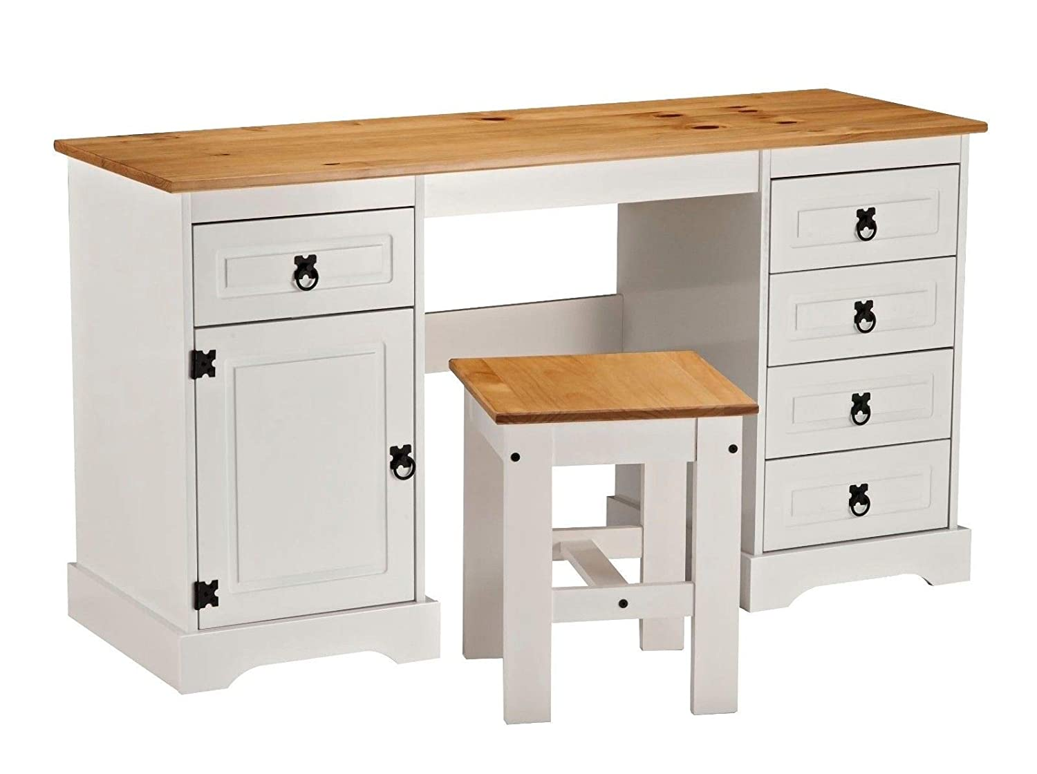 wholesale dealer d815c 76937 Corona Double Pedestal Computer Table or Dressing Table & Stool UK Mainland  ONLY**
