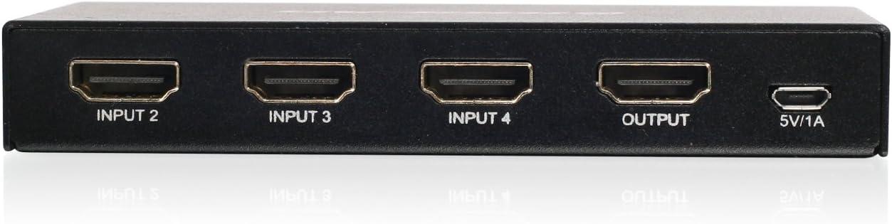 GHDSW4K4 IOGEAR 4K 4-Port HDMI Switch with Remote
