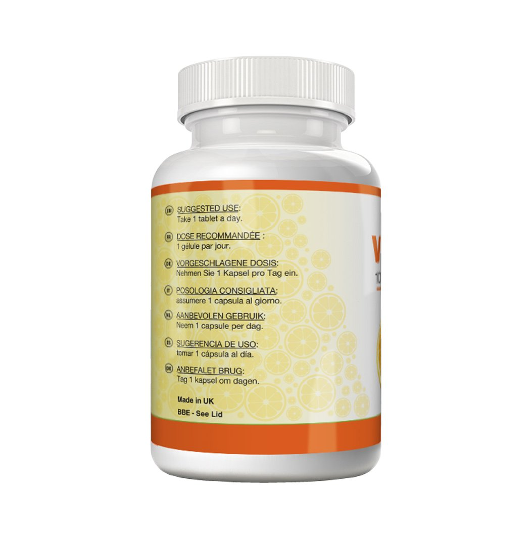 Amazon.com: Vitamin C 1000 mg - 180 tablets | High-dose vitamin C preparation for optimal effectiveness | For more energy and vitality and reduced tiredness ...
