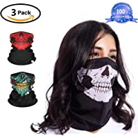 Bandana Braga Cintas Deportivas para el Pelo,Bandas de Cabeza Deportivas,Stylish Seamless Scarf Multifunctional Climb Magic Skull Winter Outside Face Mask Climb Magic Snowboard Unisex Scarves,Baloncesto, fútbol, Tenis, Ciclismo, Cardio, Ejercicio de Gimnasio, Entrenamiento,Detienen el Sudor(3 Pack)