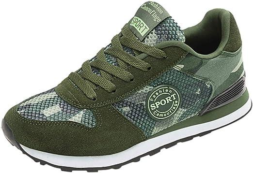 Proumy Zapatos para Correr para Mujer Parejas Mujer Hombres Zapatillas Camuflaje Zapatos Planos Zapatos Casuales Transpirable Ligero Zapatillas de Deporte Zapatos para Correr: Amazon.es: Hogar