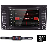 Hizpo Double VW DVD Receiver for Touareg Transporter T5 Multivan GPS Bluetooth Touch Screen+ Free map + Rear Camera