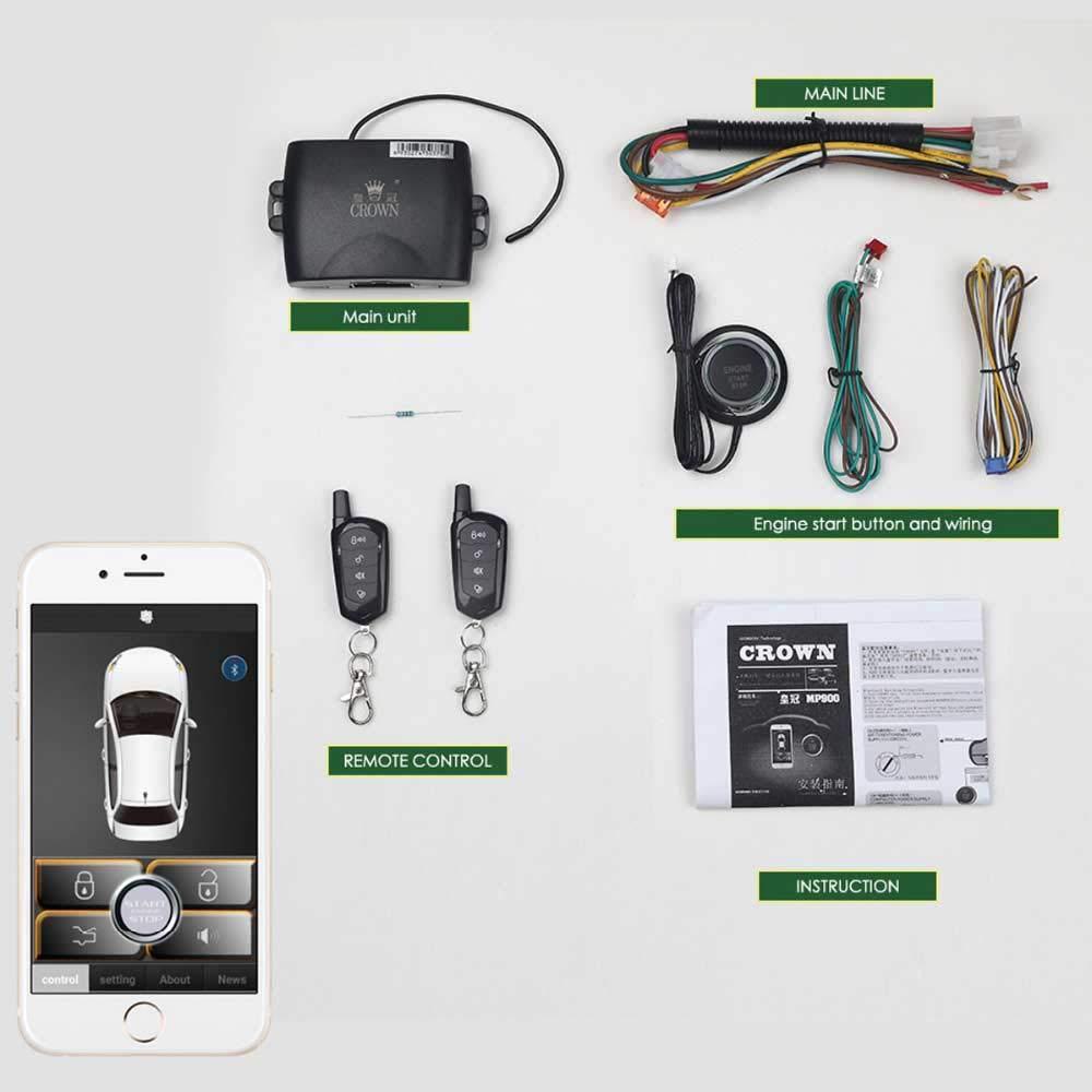 Car Starter App >> Amazon Com Universal Remote Car Starter For Smartphone App Keyless