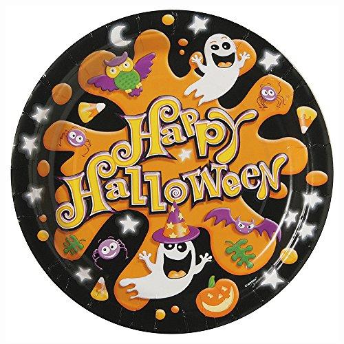 (Splash Halloween Dessert Plates,)