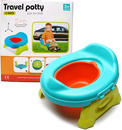 Shoze Kids Potty Training Travel Portable Foldable Toddler Toilet Chair Safe Seat Assistant Toddler Plastic