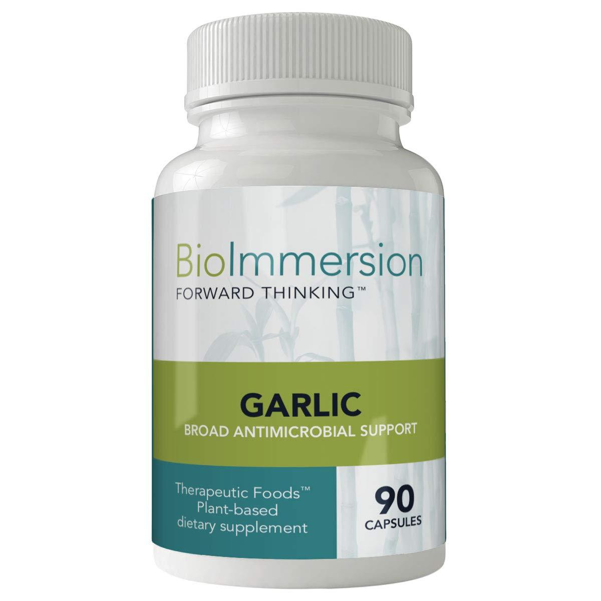 BioImmersion - Garlic, Organic - Natural broad-spectrum antimicrobial support - 90 capsules