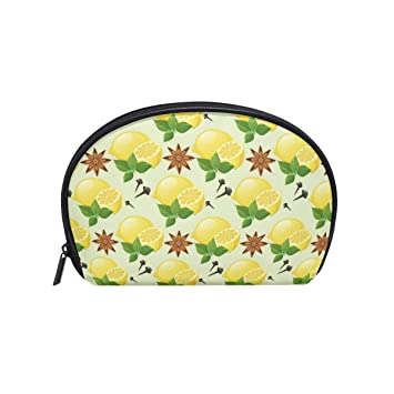 42121c81d092 Amazon.com : Edible Lemon And Star Anise Women's small cosmetic case ...