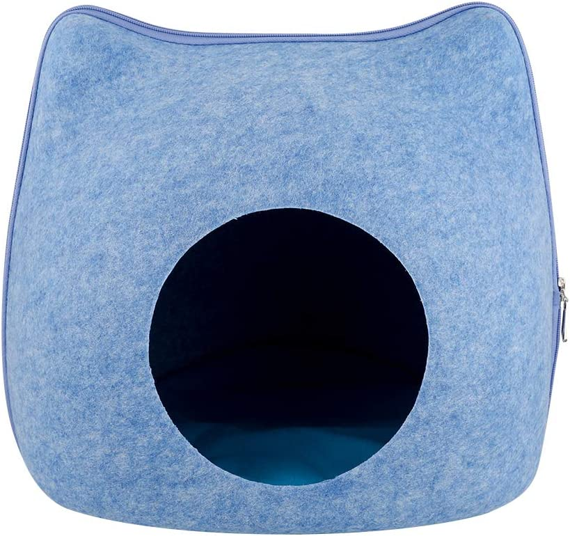 Decdeal Cat Bed Cave Cozy Cat Cave,Cat House,Eexclusive Felt,Safe and Comfortable