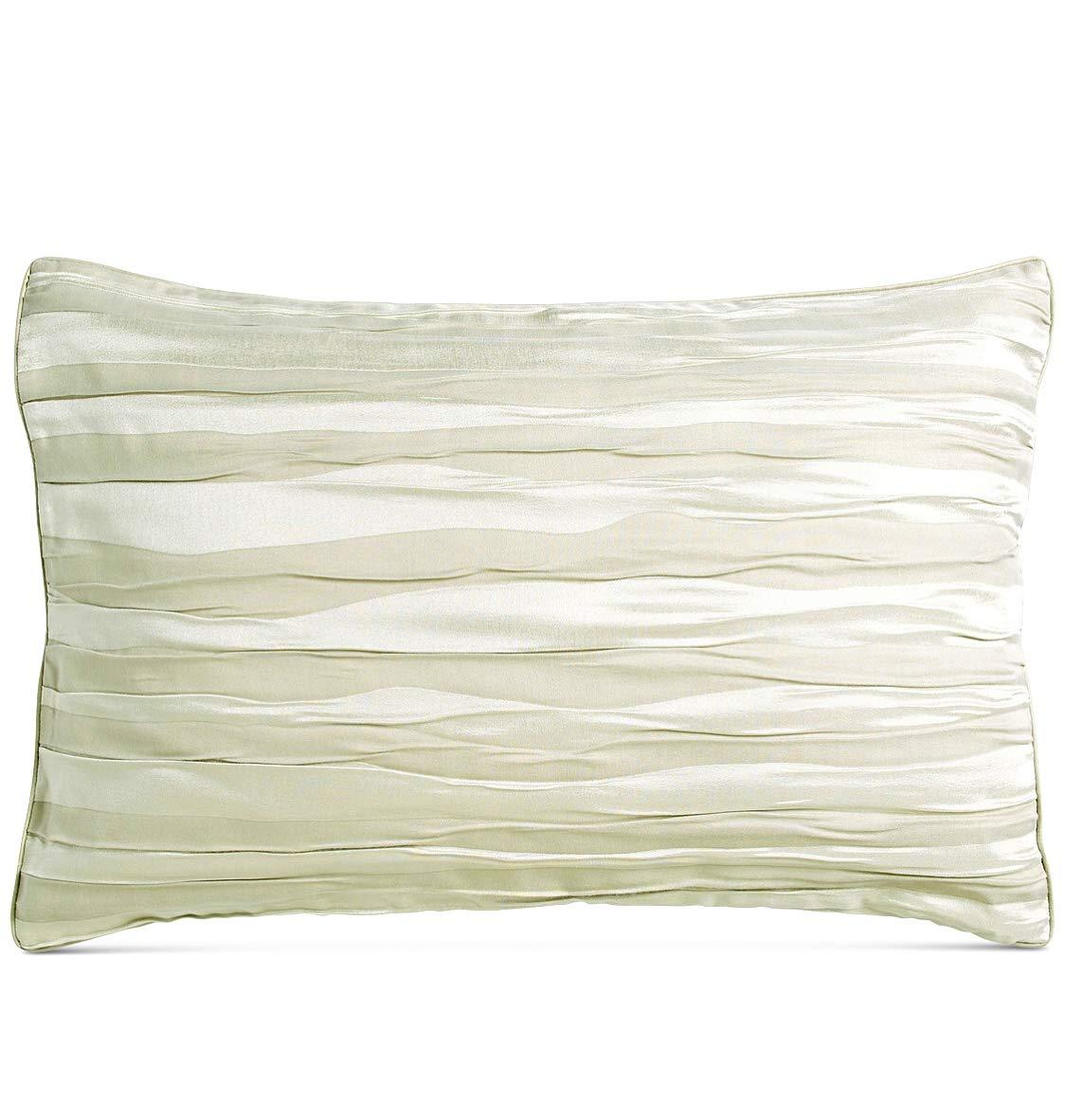 Donna Karan Tidal Silver King Sham Ruched Design
