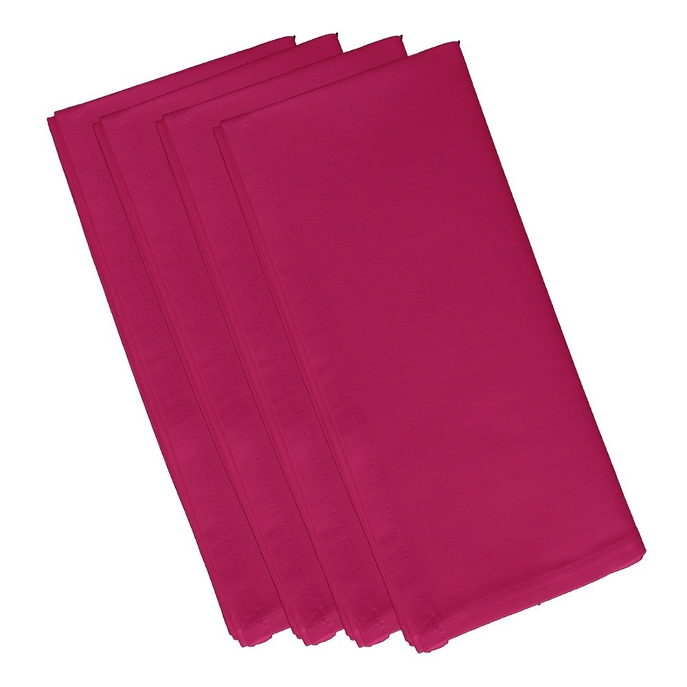 4 Piece Fuchsia Dinner Napkin, (Set Of 4), Solid Pattern, Classic And Contemporary Style, Square Shape, Good Qualitie, Everyday Or Special Occasions, Decorative, Cotton Material, Salmon, Light Pink