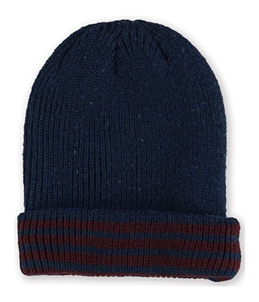 Aeropostale Mens Striped Beanie Hat Blue One Size at Amazon Men s ... 655c9e034b6